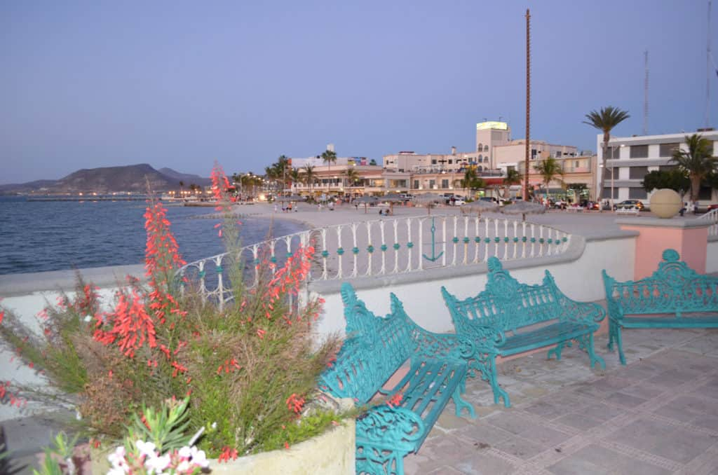 The malecon in La Paz has been called the most beautiful in all Mexico.