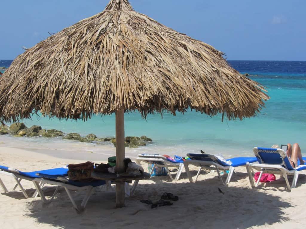 Curacao palapa beach