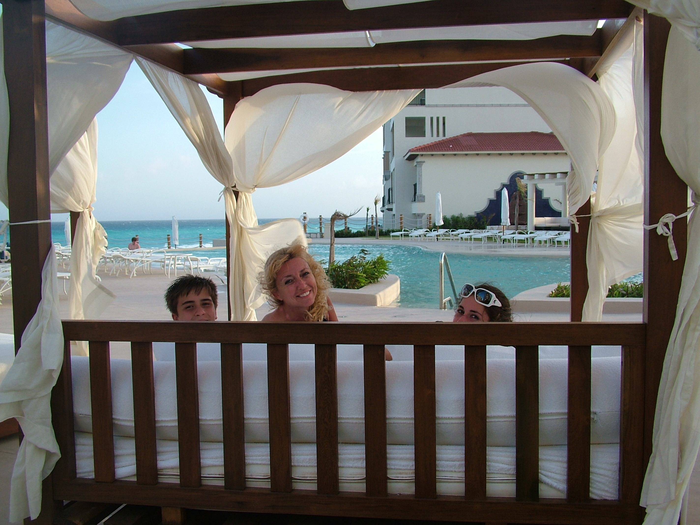 Cancun beach bed