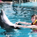 Dancing with dolphins at Aquaventures in Puerto Vallarta.
