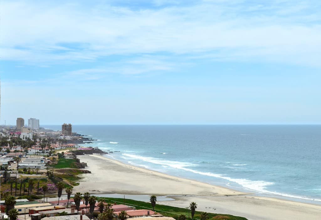 View of the beach from the Rosarito Beach Towers.