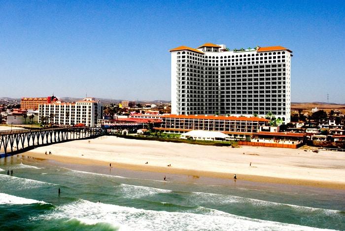 Tower rooms overlook the Pacific Ocean