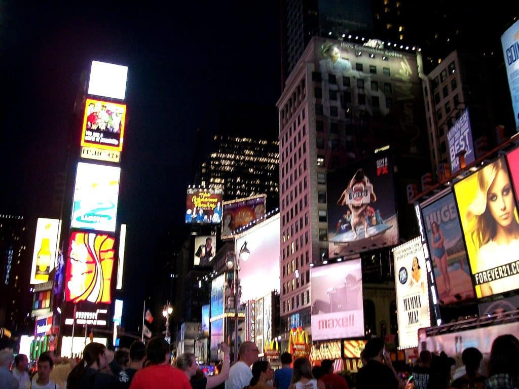 Times Square, always a frenetic and fun part of New York City
