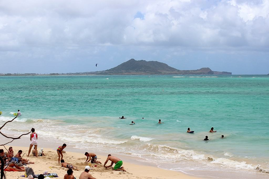 The enticing turquoise water at Kailua Beach