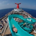 114 foot water slide. Photo by Andy Newman/Carnival Cruise Lines