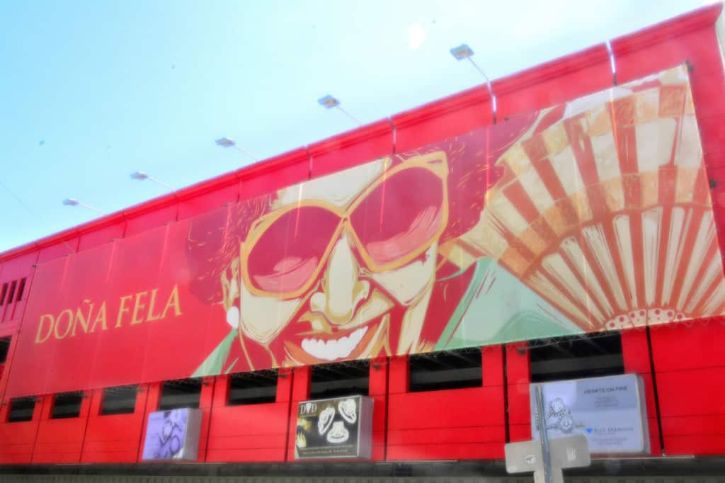 Dona Fela's parking garage -- probably the most decorative one in the world!