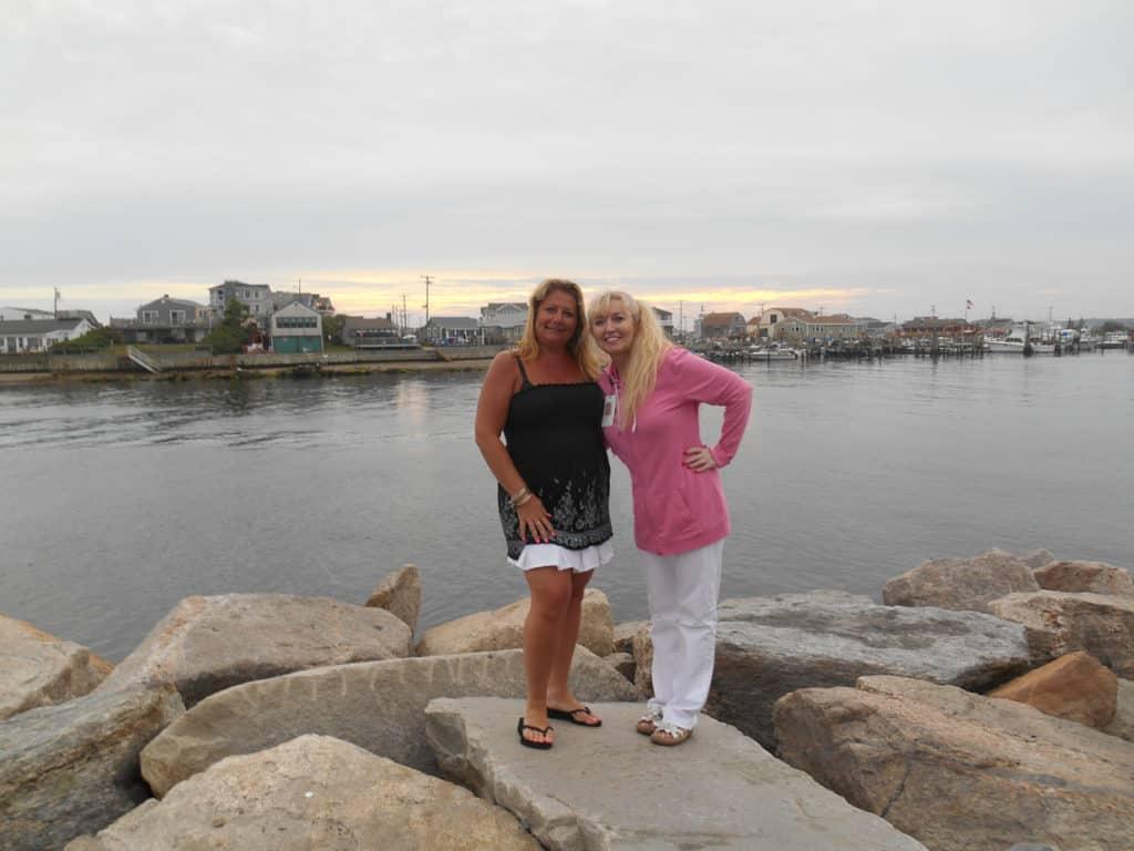 Donna and Patti in Galilee, RI