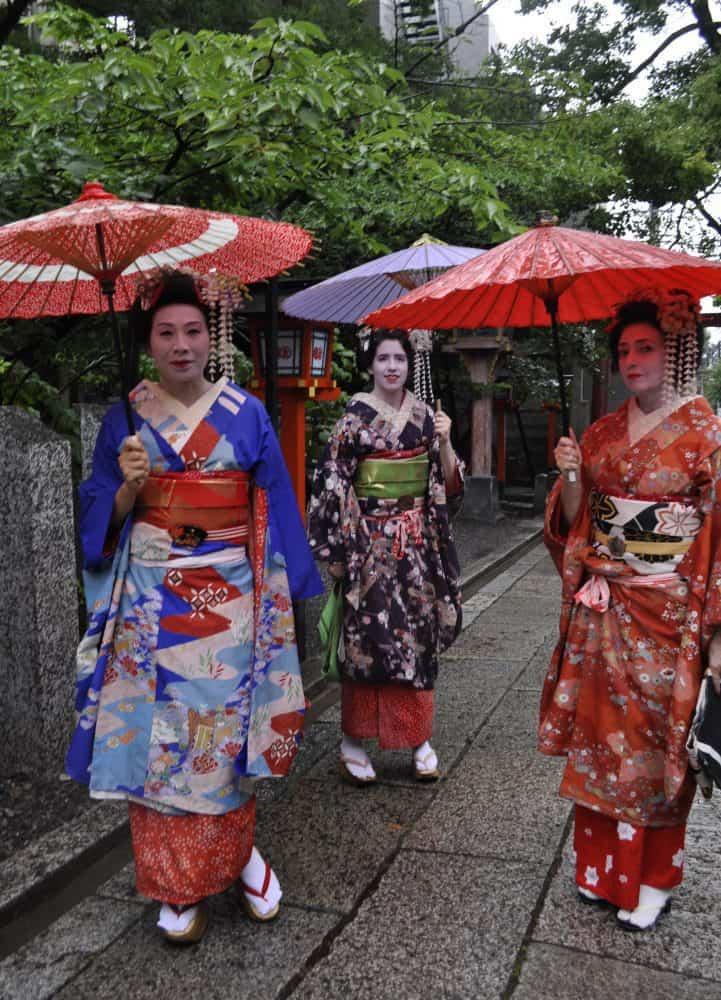 geisha makeover Kyoto japan