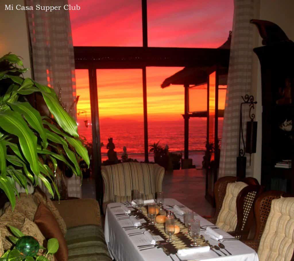 Mi Casa Supper Club at sunset