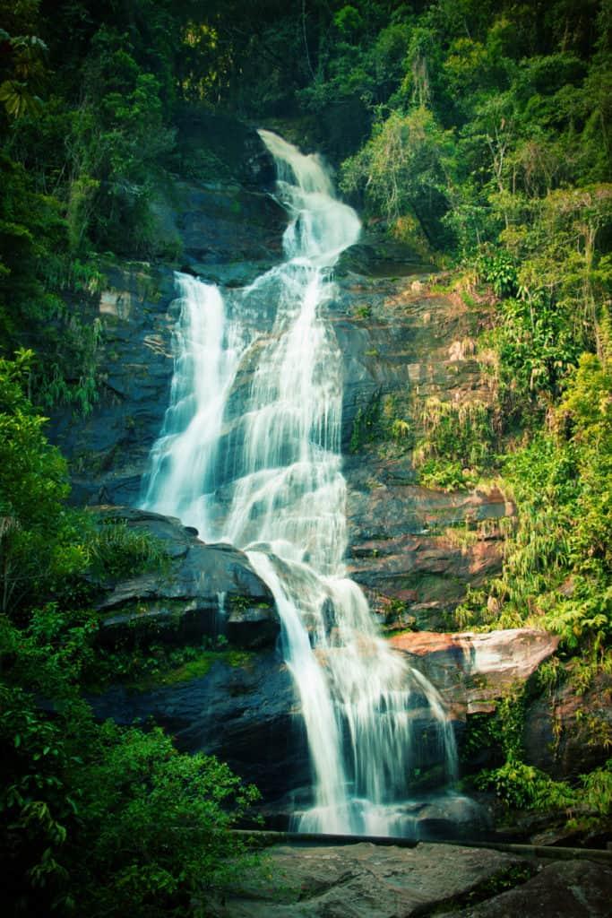 Waterfall in Tijuca National Park in Rio de Janeiro, Brazil