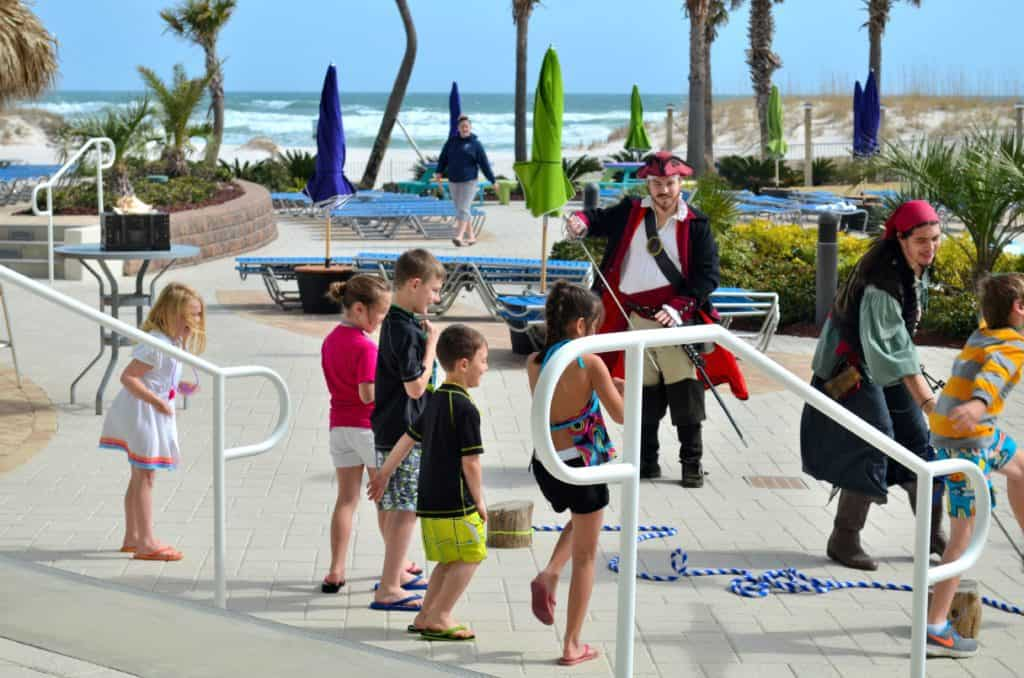 A pirate-led treasure hunt at family-friendly Orange Beach