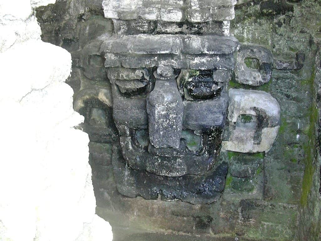 Carved stone masks, Tikal