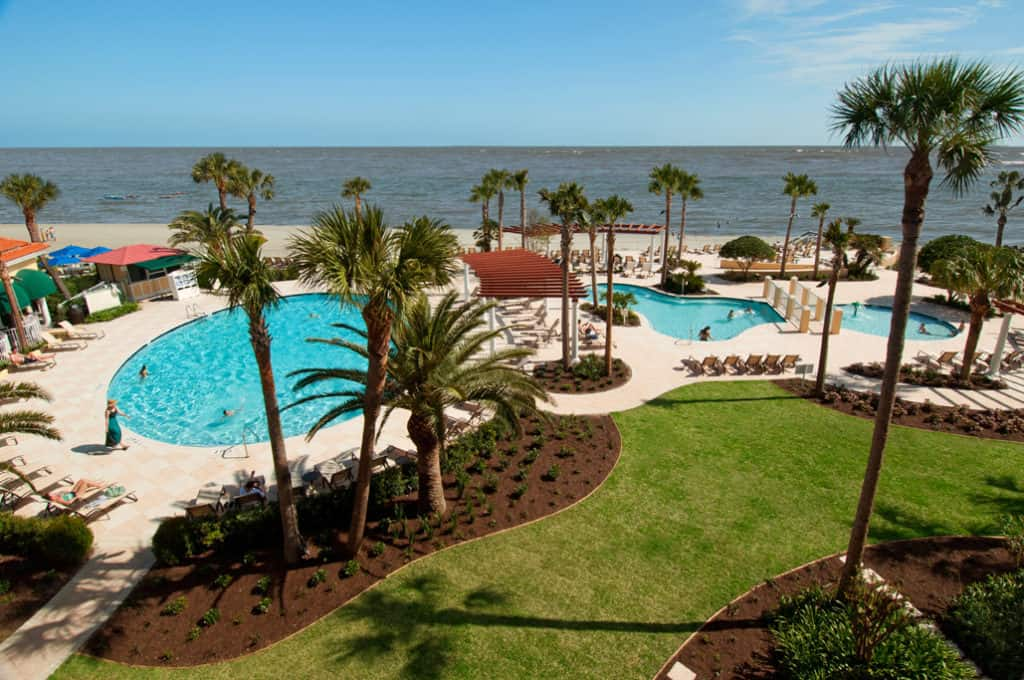Swimming Pools at the King and Prince Beach & Golf Resort, St. Simons Island, GA.