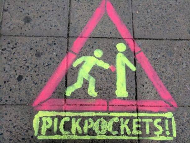 pickpockets in europe