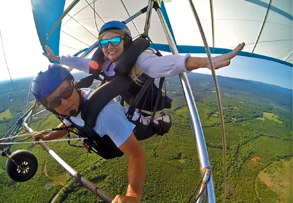 superman hang glide