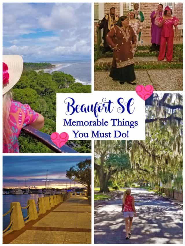 Beaufort is one of the most important cities in US history and ranked one of the top 100 small towns to live in. Check out all the fun things to do in Beaufort SC! #visitbeaufortsc #beaufortsc #boomersinsc #babyboomertravel #discoverSC