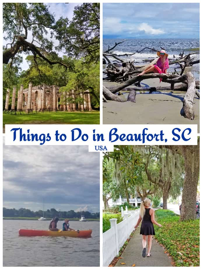 "Beaufort is the ""Queen of the Carolina Sea Islands"" and ranked one of the top 100 small towns to live in. Check out all the fun things to do in Beaufort SC! #visitbeaufortSC #beaufort #boomersinSC #discoverSC #babyboomertravel"