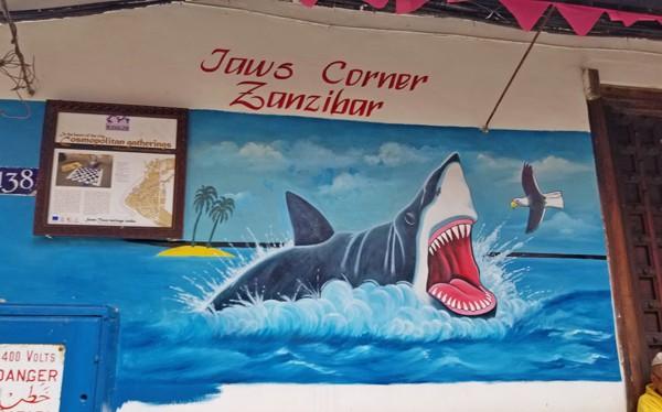 Street art at Jaws Corner