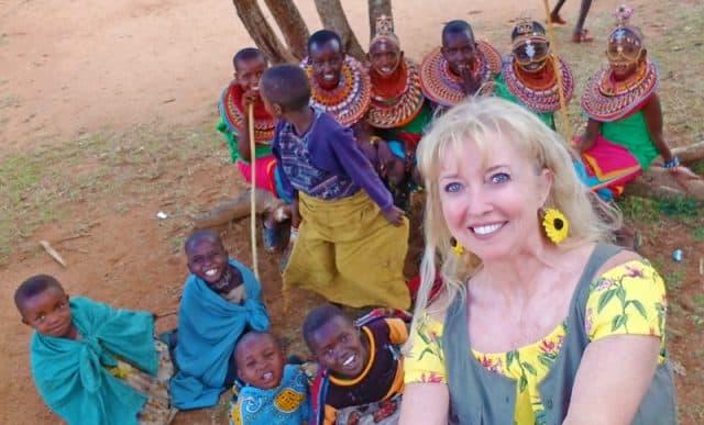 wearing jewelry at samburu village